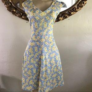 Sunflower 🌻 Print Vintage Dress
